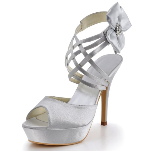 elegantpark-scarpe-con-plateau-donna-argento-argento-40