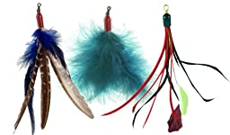 Wild Feather Refill Pack for Hyendry and Da Bird Cat Toy Teaser Poles: Contains Spindrift, Super Guniea and Kitty Puff Refills