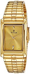 Titan Karishma Analog Gold Dial Mens Watch - NE9154YM02J