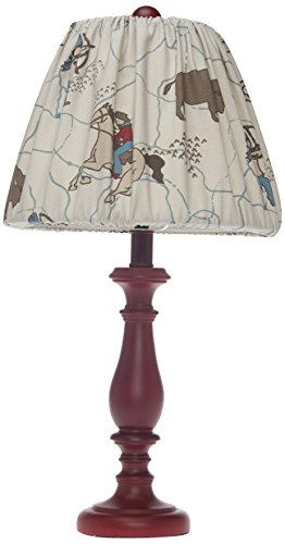 Sweet Potato Lamp, Red Base with Cowboy Shade