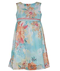 Chipchop Girls' Dress (WFGD0005B_Light Blue_6-7 Years)