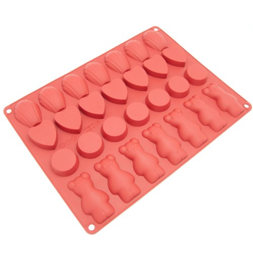 Freshware 28-Cavity Silicone Chocolate, Cookie,