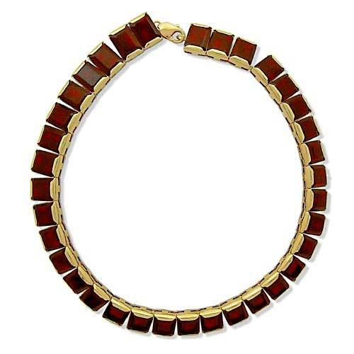 Gioie collier femme en or 18 carats jaune avec grenat cm for 44 175