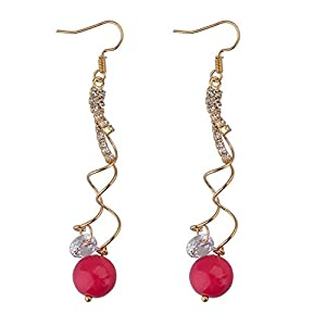 GOMO Elegant Drop Earrings Gold Plated SWA Ele t Austrian Crystal Earrings Jewelry Mix Color