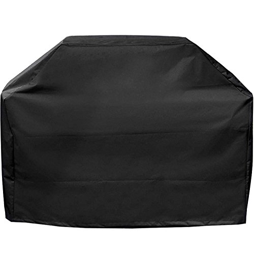 Barbecue Grill Cover - Durable Polyester Waterproof, Small 56-inch (Black)
