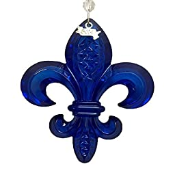 Waterford 2014 Fleur De Lys Ornament, Cobalt by Waterford