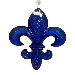 Waterford 2014 Fleur De Lys Ornament, Cobalt by Waterford