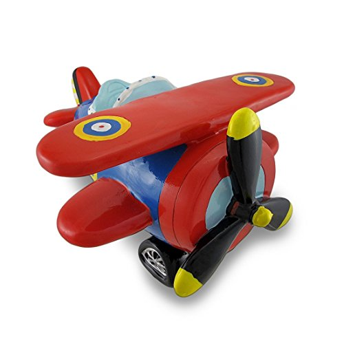 Jumbo Red Biplane Piggy Coin Bank