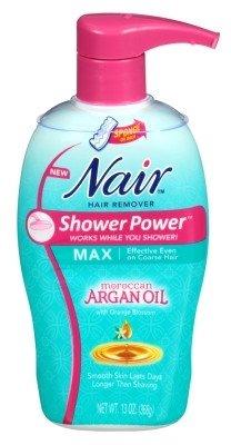 Nair Hair Remover Shower Power Max Argan Oil 13oz Pump