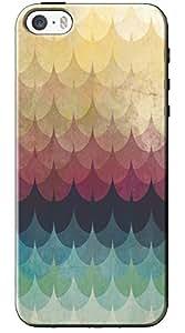 EU4IA Multicolor Pattern MATTE FINISH 3D Back Cover Case For iPhone 5 - D240