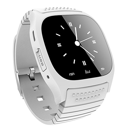 Soyan New M26 Bluetooth Smart Wrist Watch Phone Suitable for Android Phones(Full functions),For Iphone(Partial functions) (White)
