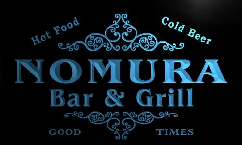 u32696-b-nomura-family-name-bar-grill-home-brew-beer-neon-sign-barlicht-neonlicht-lichtwerbung