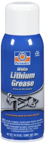 Permatex 81981 White Lithium Grease, 10.75 oz. Aerosol Can