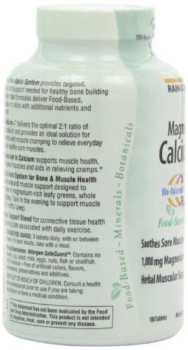 缓解肌肉酸痛,Rainbow Light 天然食物钙镁片 180片图片