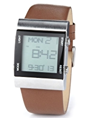 Autograph Rectangular Face Digital Watch