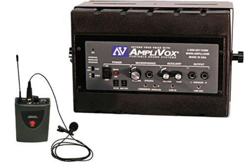 Amplivox Sw1230 Mity Box Amplified Speaker With Wireless Mic