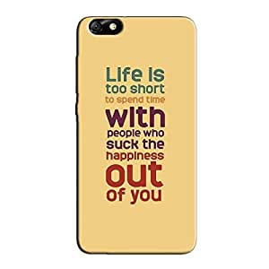 LIFE IS SHORT BACK COVER FOR HONOR 4X