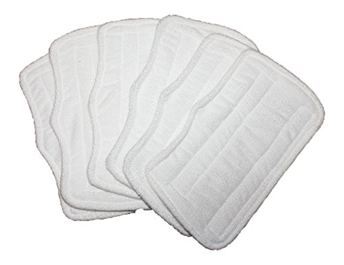 6 pc Microfiber Pads (XT3101) for Shark Steam Mop S3101, S3250, S3202 (Steam Mop S3101 compare prices)