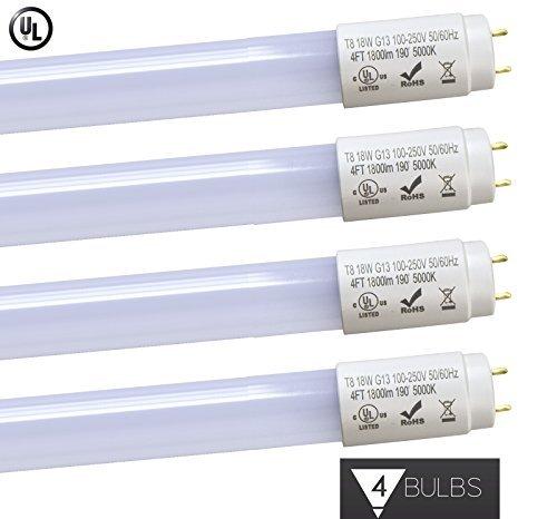 Triangle Bulbs 18W 4 foot T8 LED Tube Lights,