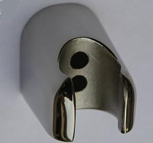acier inoxydable de douche mural pour peignoir de douchette à main miroir brillant