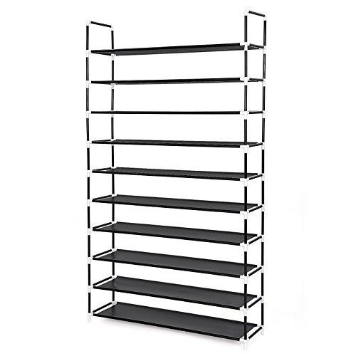 songmics-zapatero-de-10-niveles-estanteria-con-estructura-metalica-baldas-de-plastico-pp-100-x-29-x-
