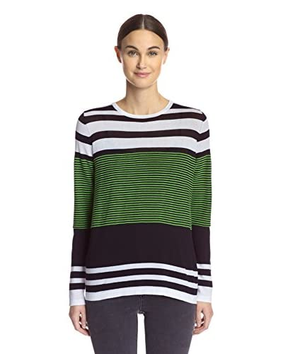 Cullen Women's Back Zip Striped Sweater