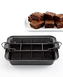 Martha Stewart Collection Brownie Pan, Slice Solutions