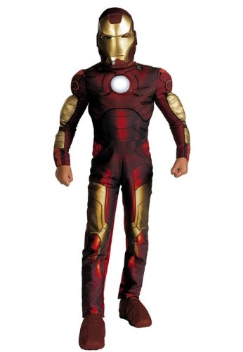 Iron Man Muscle Costume - Light up Chest Child Costume - Small (4-6)