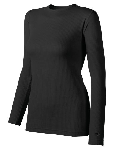 Duofold Women's Mid Weight Wicking Thermal Shirt, Black, Small (Thermal Barrier Pants compare prices)