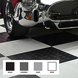 Modular Garage Flooring -- Black & White