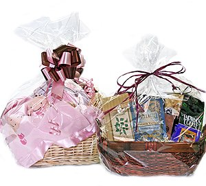 Clear Cellophane Bags for Gift Baskets - Asst sizes