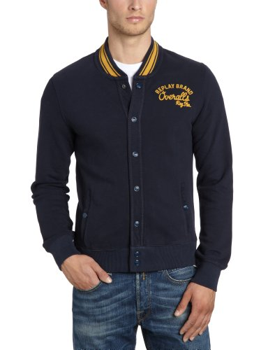 Replay Men's M3184 .000.20770 Sweatshirt Blue (Dark Blue 500) 46