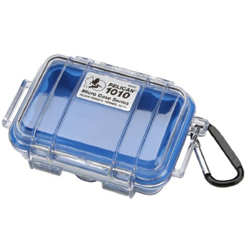 Pelican 1010 Micro Case, Blue with Clear Lid