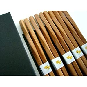 5 pairs Japanese chopsticks gift sets Twist $1.25