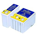 UCI EI T051 T052 [ 2 Ink = 1 x Set ] Compatible Ink Cartridge Replace For EPSON Stylus Colour 760, 740, 1160, 1520, 740I, 860, 800, 850, 800N, 850NE, 1520k, EPSON Stylus Scan 2500, 2000, 2500 Pro, Non OEM EPSON MJ930C, MJ 6000C Printer, t051, t052, C13T0