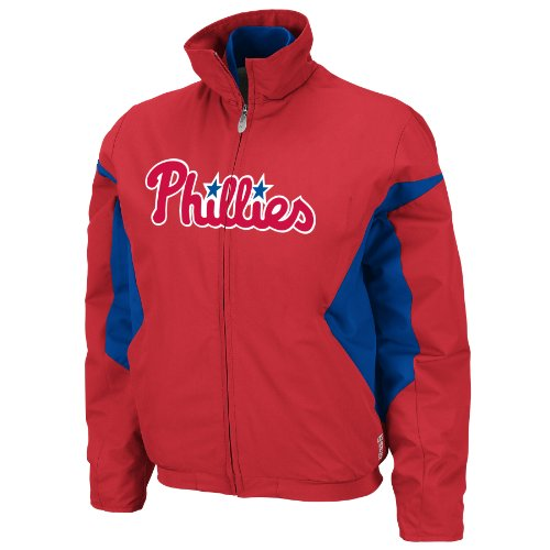 MLB Philadelphia Phillies Triple Peak Women's Jacket, Red/Blue, Large at Amazon.com