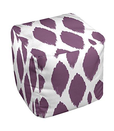 E by design FG-N15-Purple-13 Geometric Pouf - 1