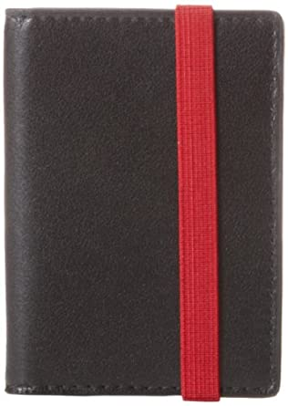 Jack Spade Elastic Vertical Flap Wallet Bifold,Black,One Size