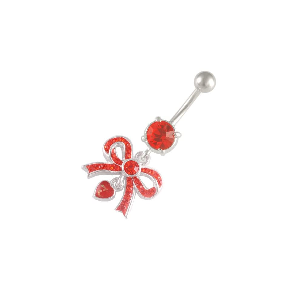 14 Gauge 1.6mm 3/8 10mm cute dangle belly rings navel bar surgical steel unique button AWNV Body Piercing