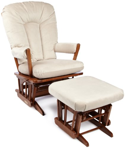 Dutailier Horseshoe Back Design 2 Post Glider Multiposition and Ottoman Combo