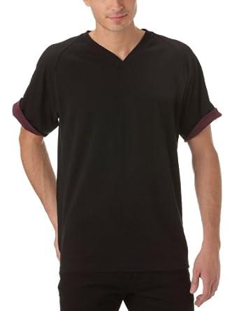Gaspard Yurkievich - T-Shirt - À Logo - Jersey - Homme - Noir (Noir/Bordeaux) - M
