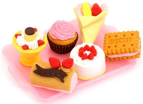 Iwako erasers cake ice cream 6 pieces set - 1