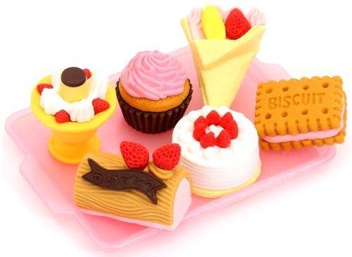 Iwako erasers cake ice cream 6 pieces set - 1
