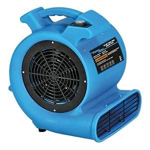 Power Glide Mini Blower Fan 1 Speed Blue: Built In