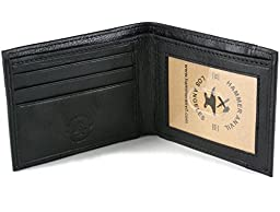 Hammer Anvil Men\'s RFID Blocking Genuine Leather Slimfold Wallet Black
