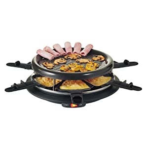 domoclip dom198 set raclette 6 personnes raclettes fondues. Black Bedroom Furniture Sets. Home Design Ideas