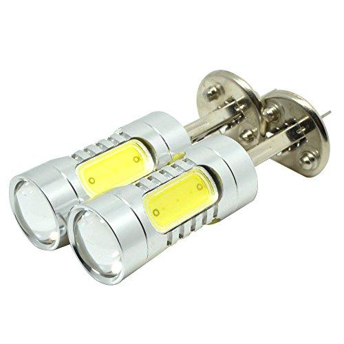 Mon H1 Lens 11W Cree Led Car Fog Light Daytime Running Dc 10V-24V White Pack Of 2