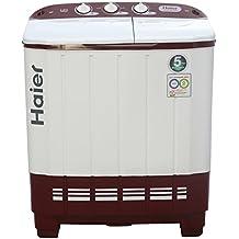 Haier XPB62-0613RU Semi-automatic Top-loading Washing Machine (6.2 Kg, Ruby Red)