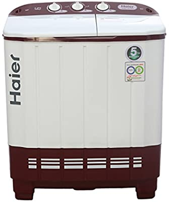 Haier XPB62-0613RU Semi-automatic Top-loading Washing Machine (6 Kg, Ruby Red)