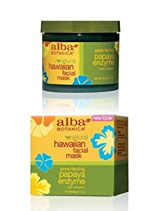 Alba Botanica Papaya Enzyme Facial Mask, 3 Ounce Jar